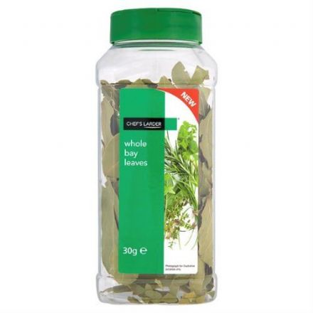 Chef's Larder Whole Bay Leaves 30g - Re-Closable Tub